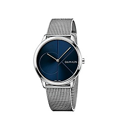 Calvin Klein - Men's silver 'Minimal' analogue bracelet watch K3M2112N