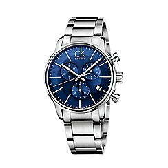 Calvin Klein - Men's silver 'City' chronograph bracelet watch K2G2714N