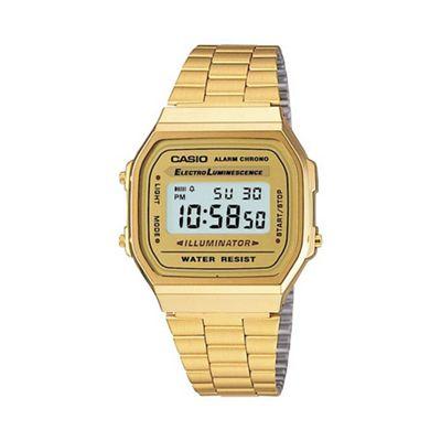Casio - Unisex gold square dial digital watch a168wg-9ef ea6e0762c5f