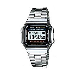 Casio - Unisex silver rectangular dial digital watch a168wa-1yes