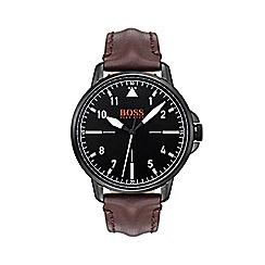 Boss Orange - Men's brown 'Chicago' strap watch