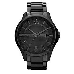 Armani Exchange - Men's black smart bracelet watch ax2104