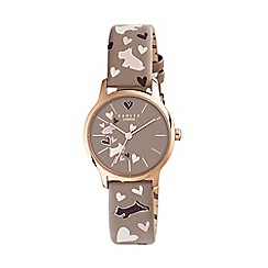 Radley - Ladies cream 'Love Me, Love My Dog' Woodland leather strap watch RY2476