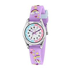 Tikkers - Multi-coloured 'Teacher' 3D strap watch TK0145