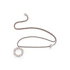 Guess - Rose gold plated 'Heart Bouquet' Swarovski heart circle long necklace