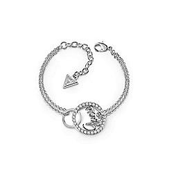 Guess - Rhodium plated 'Authentic' Swarovski interlocking circles bracelet
