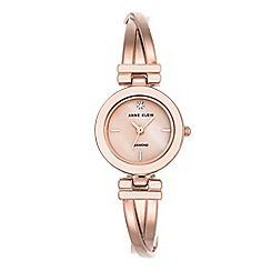 Anne Klein - Ladies rose gold Mother of Pearl 'Leah' analogue bangle watch AK/N2622LPRG