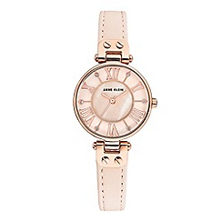 Anne Klein - Ladies cream 'Jane' analogue leather strap watch AK/N2718RGPK