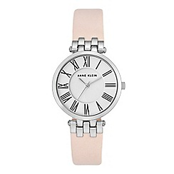 Anne Klein - Ladies light pink 'Amber' analogue leather strap watch AK/N2619SVLP