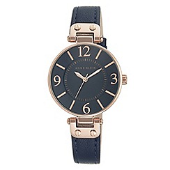 Anne Klein - Ladies navy blue 'Chelsea' analogue leather strap watch 10/N9168RGNV