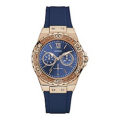 Guess - Ladies blue strap watch