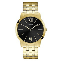 Guess - Men's gold analogue bracelet watch