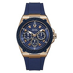 Guess - Men's blue strap watch