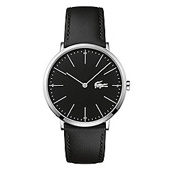 Lacoste - Men's black 'Moon' strap watch