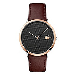 Lacoste - Men's brown 'Moon' chronograph strap watch
