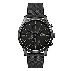 Lacoste - Men's black 'L.12.12' chronograph strap watch