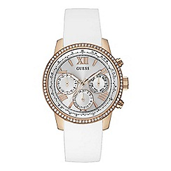 Guess - Ladies white strap watch