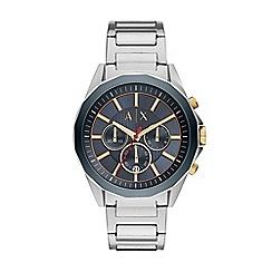 Armani Exchange - Men's silver chronograph bracelet watch