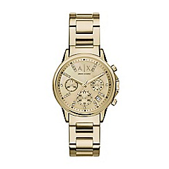 Armani Exchange - Women's gold chronograph bracelet watch