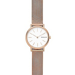 Skagen - Ladies rose gold 'Signature' bracelet watch