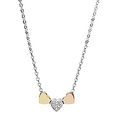 Fossil - Tri-tone heart necklace
