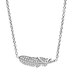 Fossil - Silver feather necklace