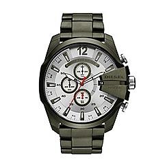 Diesel - Men's green 'Mega Chief' bracelet watch