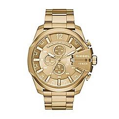 Diesel - Men's gold 'Mega Chief' bracelet watch