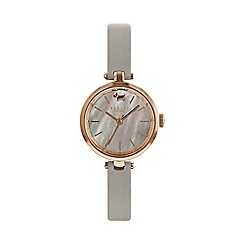 Radley - Ladies grey 'St. Dunstan's' analogue leather strap watch RY2658