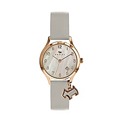 Radley - Ladies grey 'Liverpool Street' analogue leather strap watch RY2644