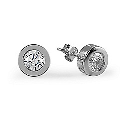 Radley - Silver 'Fountain Road' crystal stud earrings