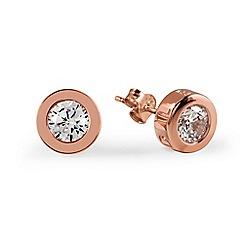Radley - Rose gold 'Fountain Road' crystal stud earrings