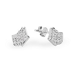 Radley - Silver 'Love Radley' crystal stud earrings