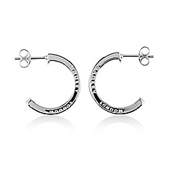 Radley - Silver 'Hatton Row' hoop earrings