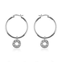 Radley - Silver 'Esher Street' hoop earrings