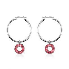 Radley - Silver and pink 'Esher Street' hoop earrings
