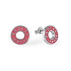 Radley - Pink and silver 'Esher Street' stud earrings