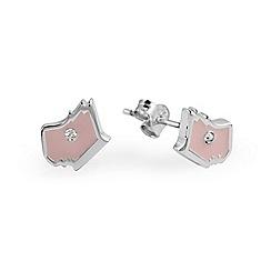 Radley - Pink and silver 'Love Radley' crystal stud earrings