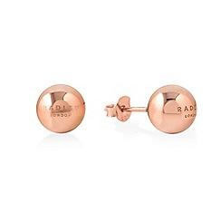 Radley - Rose gold 'Bliss Crescent' stud earrings