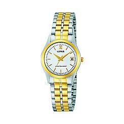 Lorus - Ladies two tone dress bracelet watch rh770ax9