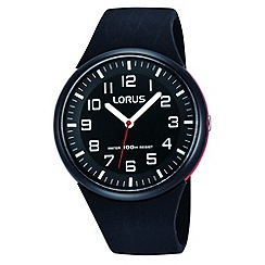 Lorus - Kids' black soft resin strap watch rrx47dx9