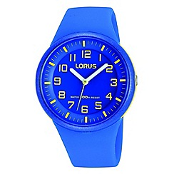 Lorus - Kids' blue soft resin strap watch rrx51dx9