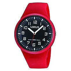 Lorus - Kids' red soft resin strap watch rrx59dx9