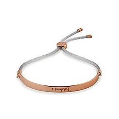 Radley - Rose gold plated 'Radley Smile' bracelet