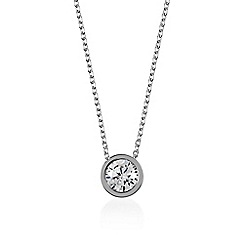 Radley - Silver 'Fountain Road' crystal pendant necklace