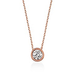 Radley - Rose gold 'Fountain Road' crystal pendant necklace