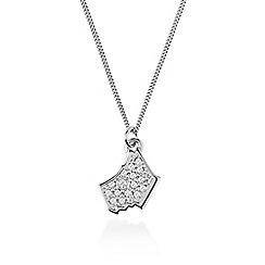 Radley - Silver 'Love Radley' crystal dog pendant necklace