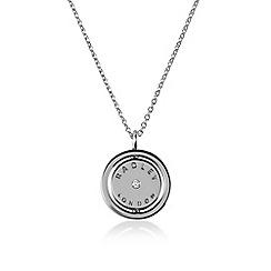 Radley - Silver 'Love Radley' crystal disc pendant necklace