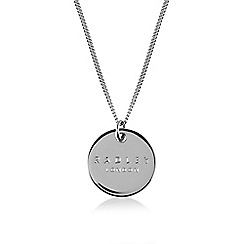 Radley - Silver 'Broad Street' disc pendant necklace
