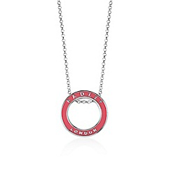 Radley - Pink and silver 'Esher Street' ring pendant necklace